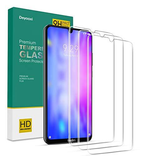 Deyooxi Cristal Templado para Xiaomi Redmi Note 8T, 3 Unidades Fino Pantalla Protectora para Xiaomi Redmi Note 8T, Alta Definicion Vidrio Templado Protector,Transparente