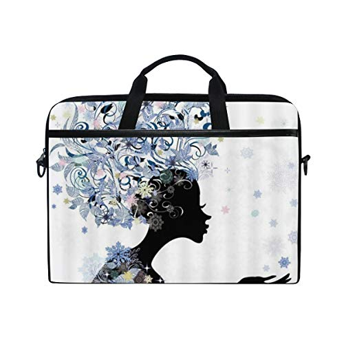 LOSNINA Laptop Tasche 15-15.4 Zoll,Blauer Schmetterlings Mädchenkleid Entwurfs Märchen Engel beflügelt weiche Farbmoderne Designer weibliche,Drucken Muster Aktentasche Schulter Messenger Handtasche