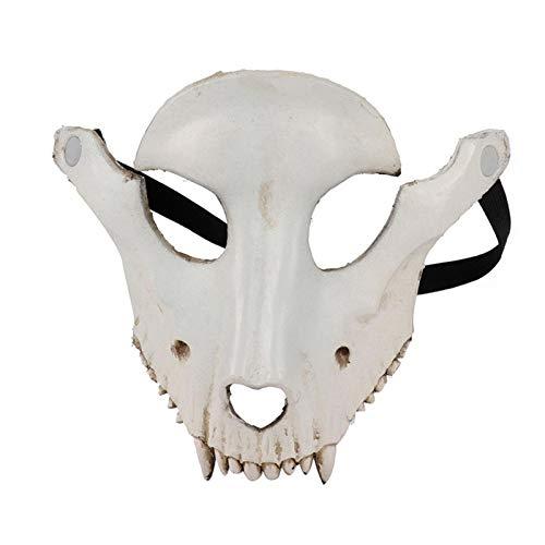 Mscara de Halloween de cara completa con forma de crneo de cabra, mscara de Halloween, cosplay, fiesta, oveja, crneo, mscara facial, disfraz de decoracin de fiesta, color blanco