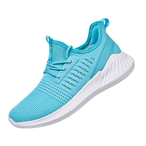 Women Sneakers Walking Shoes Lightweight Comfortable Casual Road Running Shoes for Blue Size 9