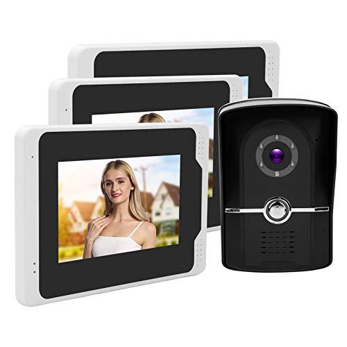 Sistema de timbre con videoportero, sistema de intercomunicación con video HD 1080P, pantalla LCD Tft de 7(European regulations)