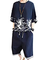 SUKESEM 半袖 Tシャツ メンズ 上下セット 無地 スポーツウェア ハーフパンツ カジュアル スポーツウェア 春 夏 秋 部屋着