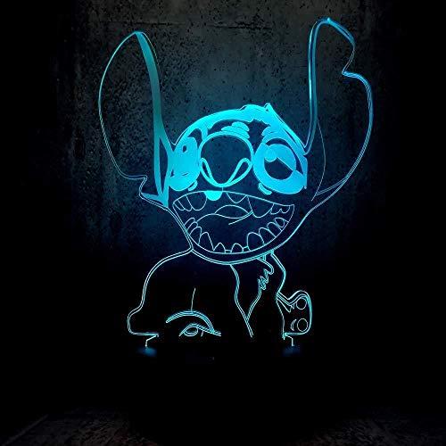Klein nachtlampje, 3D-licht, exotisch, schattig, voor huisdieren, led, voor kinderkamer, decoratie, kantoor, wastafel, ledverlichting, het beste cadeau
