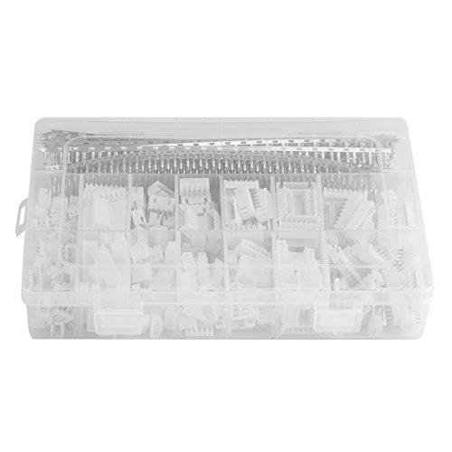 Caja de plástico, kit de conexión de 1220 piezas Encabezados de clavija de PCB de 2,54 mm Embalaje de caja para Dupont
