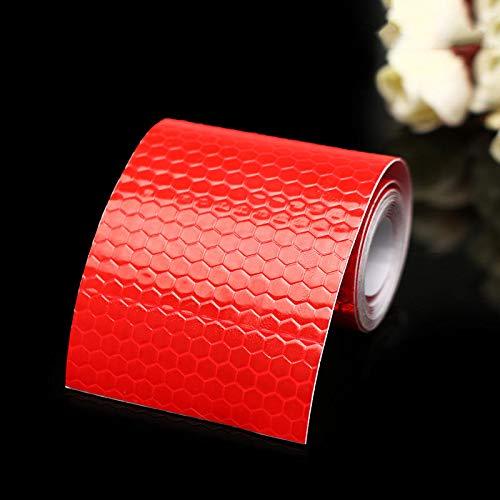 MJJEsports 5cm X 100cm Veiligheidswaarschuwing Reflecterende Sticker Conspicuity Tape Film Auto Sticker, Rood, 1