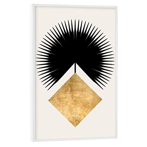 artboxONE Poster mit weißem Rahmen 75x50 cm Abstrakt Shape Crown - Bild Krone Fahne viereck