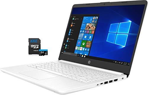 "HP Laptop, 14"" HD Screen, Intel Celeron N4020 Processor, 4GB DDR4 Memory, 64GB eMMC, Webcam, WiFi, Bluetooth, 1-Year Microsoft 365, Online Class/Online Meeting, Windows 10 Home, KKE 64GB Micro SD Card"