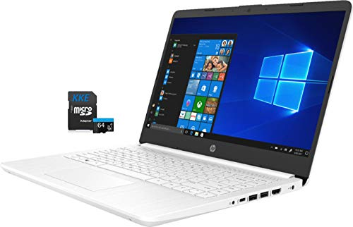 HP Laptop, 14' HD Screen, Intel Celeron N4020 Processor, 4GB DDR4 Memory, 64GB eMMC, Webcam, WiFi, Bluetooth, 1-Year Microsoft 365, Online Class/Online Meeting, Windows 10 Home, KKE 64GB Micro SD Card