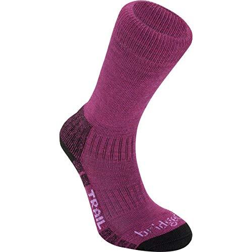 Bridgedale Damen Merino Endurance Socken, leicht, Stiefelhöhe, Größe M, Beerenfarben