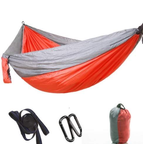 Mishuai Parachute doek hangmat buiten camping schommel 300 * 200 dubbele verlenging verbreding ultra licht benodigdheden ORANJE