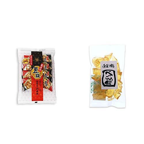 [2点セット] 飛騨銘菓「打保屋」の駄菓子 豆板(8枚入) ・べっこう飴(160g)