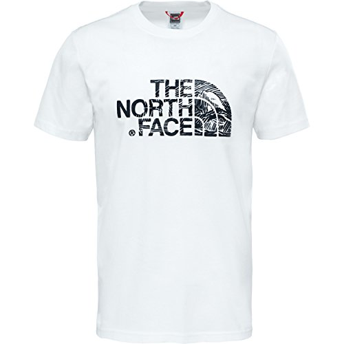 The North Face Woodcut Dome Pull sans Manche Homme, Bleu (Tnf White/Tnf Black), X-Large
