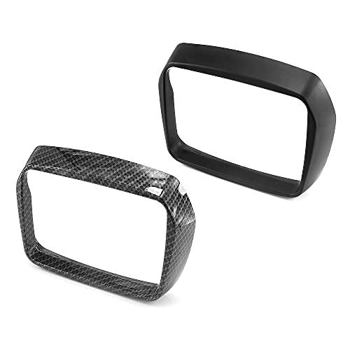 HEINMO Scooter faro cubierta marco anillo luz delantera protector con borde de bloqueo para Ves pa S125 S150 2013-2018 2019 2020 (negro)