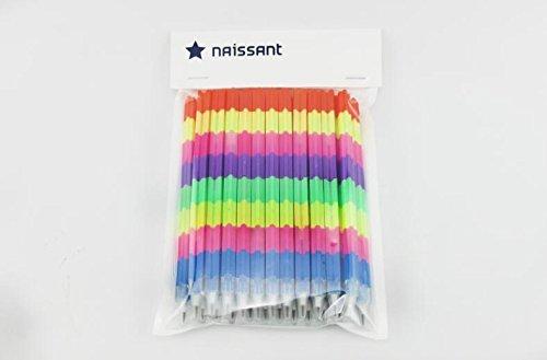 naissant24本セット差し替えて使うかわいいカラフルおもしろロケット鉛筆景品などに