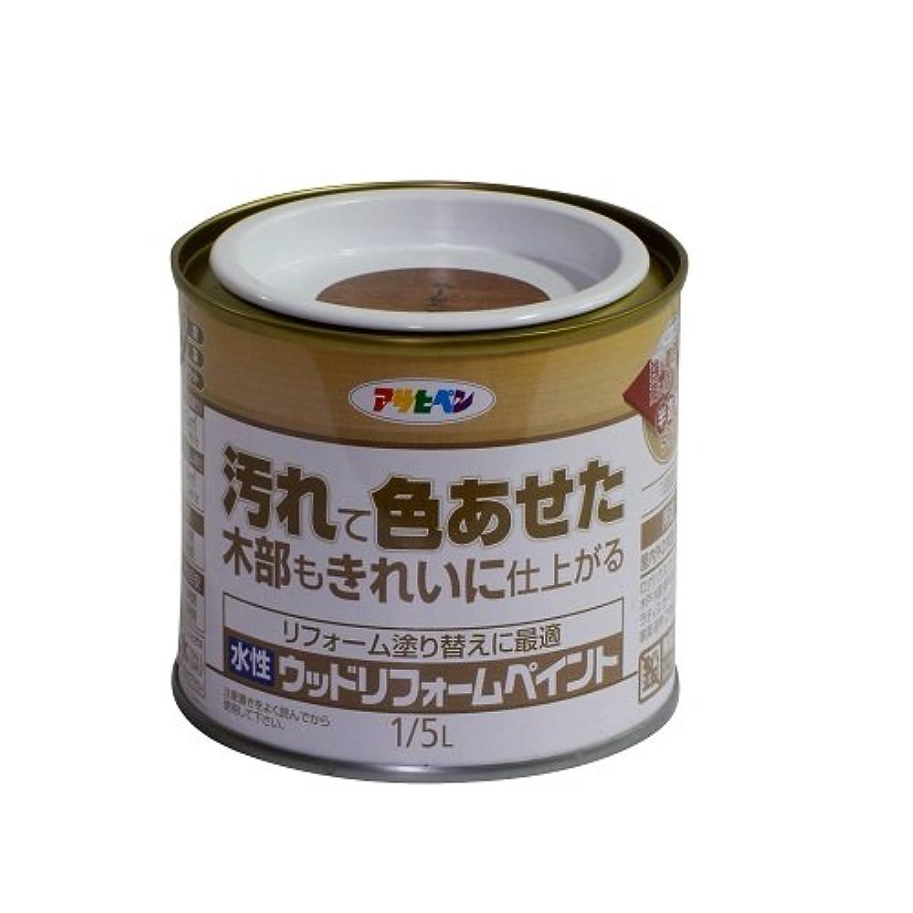 ホイストスリップシューズ暫定のアサヒペン 水性ウッドリフォームペイント ライトオーク 1/5L