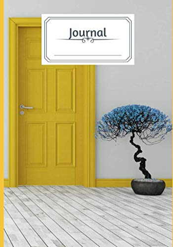 Blue Bonsai Yellow Door Journal: 120 page lined paper journal soft cover