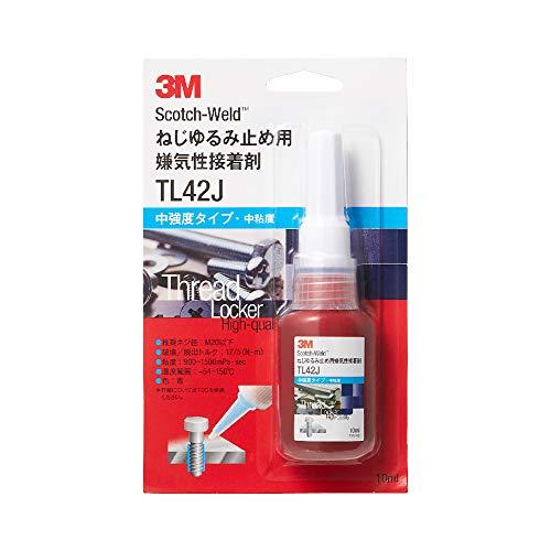 3M Scotch-Weld ねじゆるみ止め用 嫌気性接着剤 TL42J 10ml 中強度/中粘度
