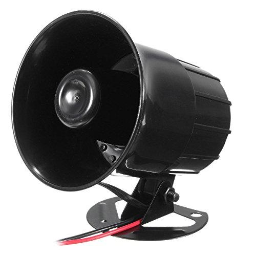 GNY Bocina eléctrica 110dB 12V 3 Sistema de PA razonado Horn Sirena Altavoz de Alarma para automóviles Coche Van