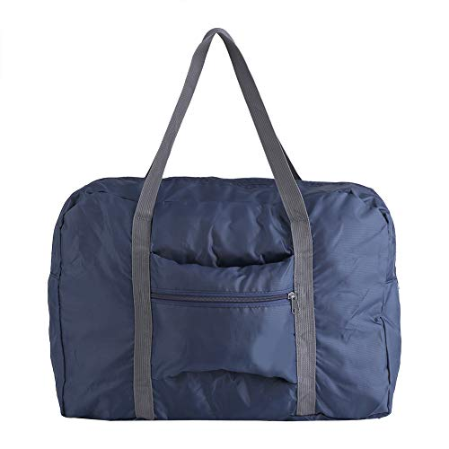 Waterproof Duffel Bag Durable Foldable Wear Resistant for Travel with Hand Strap Daily Storage(Dark Blue)