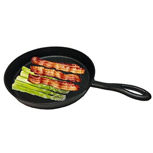 Cast Iron Skillet︳Heavy-Duty Professional Restaurant Chef Quality Pre-Seasoned Pan Cookware︳Great For Frying, Saute, Cooking, Pizza, Giant Cookie, Brownies︳Grill, Stovetop, Induction Indoor Outdoor