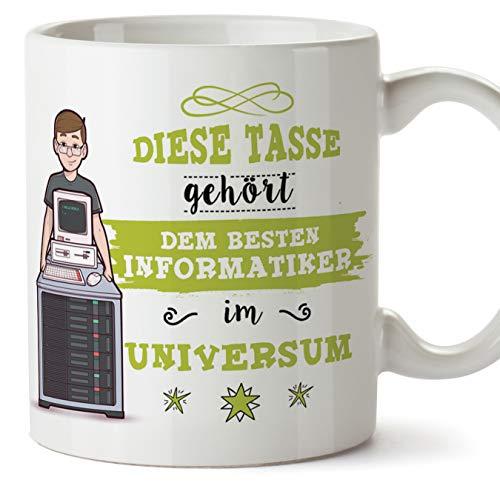 Informatiker Tasse/Becher/Mug Geschenk Schöne and lustige kaffetasse - Diese Tasse gehört dem besten Informatiker im Universum - Keramik 350 ml