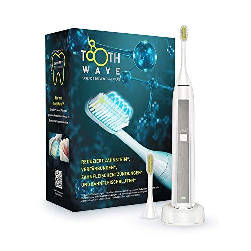 Silk'n Toothwave Elektrische Zahnbürste - Technologie gegen Verfärbungen und Zahnstein - 48.000 Vibrationen p.m.