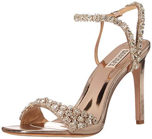 Badgley Mischka womens Galia Heeled Sandal, Champagne Metallic, 7.5 US