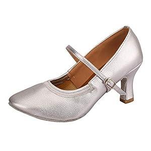 LANSKRLSP Scarpe da Ballo Latino Donna Vintage Elegante Moda Dancing Rumba Waltz Prom Ballroom Latin Ballet Dance Singles Shoes,Standard Ballroom Sala da Ballo Scarpe