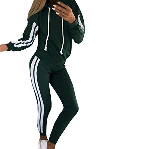 FRAUIT Tuta Donna Sportive Cotone Elasticizzato Tute Ragazze Sportiva Felpe Cappuccio Ragazza Tumblr Pantaloni Tuta Leggero Pantaloni Palestra Push Up Giacca Autunnale Giacche Felpe