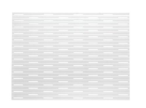 mDesign bac d'évier de silicone - Couleur: transparent - tapis de protection pour la cuisine et salle de bains – dépôt pour votre évier - Taille: 40.6cm x 31,75cm
