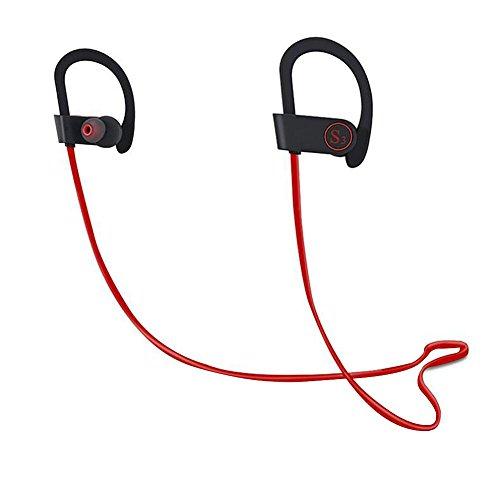prettygood7 oorbeugel koptelefoon nekbeugel draadloze Bluetooth Sport Stereo hoofdtelefoon hoofdtelefoon met microfoon veilige pasvorm voor de fitnessstudio voor iPhone 7 7 7 Plus 6S Plus Samsung Android
