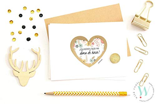 Tarjeta Testigo boda | ¿Quieres ser mi testigo de boda? | Tarjeta Rasca Personalizable | Petición Testigos o Dama de Honor o Madrina de Boda.