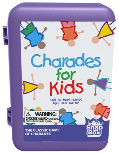 Pressman Charades for Kids Snap Box - The 'No Reading Required' Family Game in A Compact Travel Case