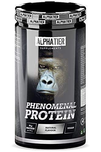 Protein Pulver mit zusätzlichen Aminosäuren (BCAA, EAA) - über 90% Eiweiß - Alphatier Proteinpulver ohne Süßstoff und Zusatzstoffe - Eiweißpulver Neutral - Natural Flavour