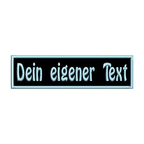 smartoutdoor Rechteckiger Aufnäher Rec1 für deinen Wunschtext - viele Farben und Größen (7x2cm) - personalisiert