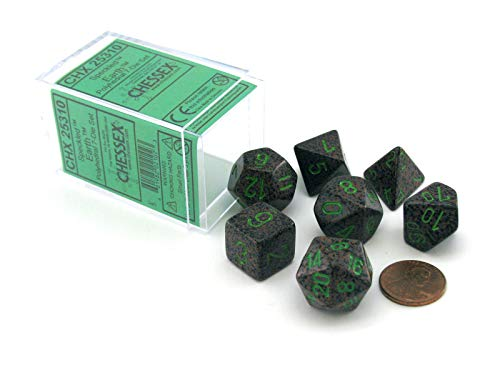 Chessex Dice Polyhedral 7-Die Set - Speckled Earth