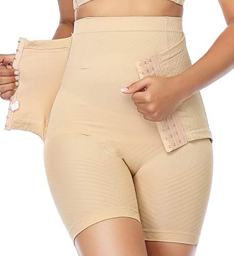 SLIMBELLE Donna Guaina Mutande Modellante Intimo Contenitive a Vita Alta Pantaloncini Thong Shapewear Modellanti Dimagrante con Gancio Pancera Snellente Body Shaper