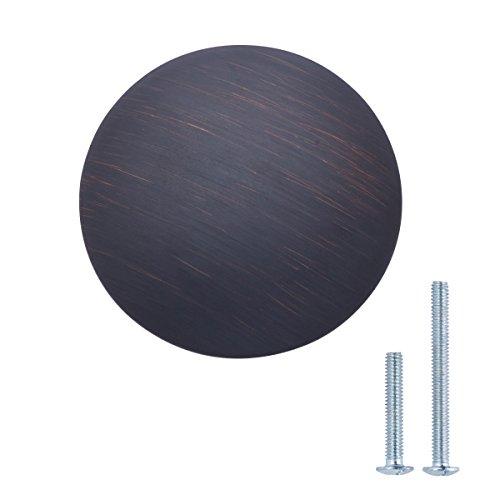 AmazonBasics - ladeknop, meubelgreep, rond, diameter: 2,99 cm Verpakking van 25 stuks. Durchmesser: 2,99 cm Geöltes Bronze
