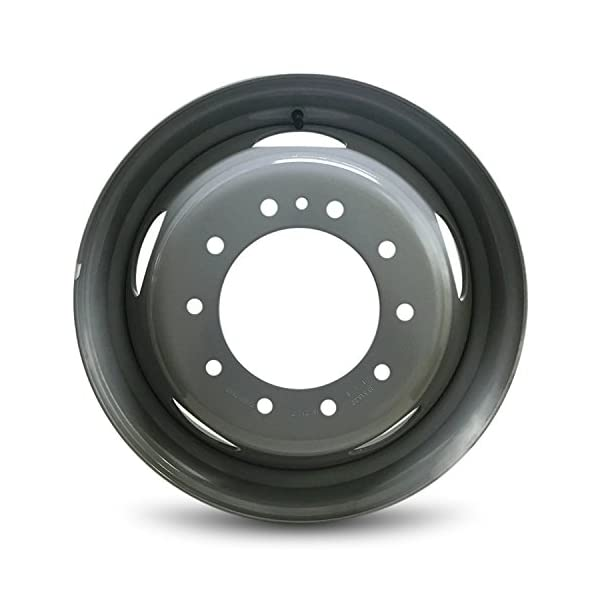 Road-Ready-Car-Wheel-For-2005-2018-Ford-F450SD-Ford-F550SD-195-Inch-10-Lug-Gray-Steel-Rim-Fits-R195-Tire-Exact-OEM-Replacement-Full-Size-Spare