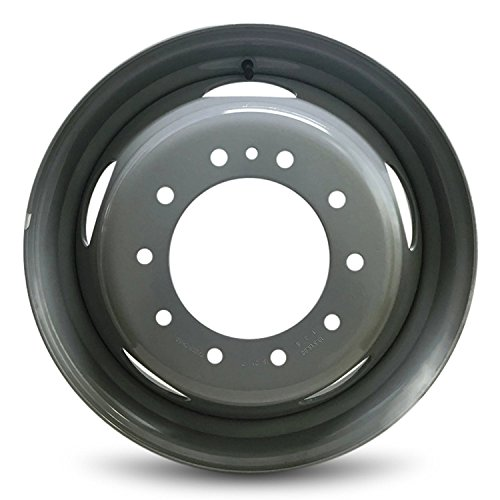 Road Ready Car Wheel For 2005-2020 Ford F450SD Ford F550SD 19.5 Inch 10 Lug Gray Steel Rim Fits R19.5 Tire - Exact OEM Replacement - Full-Size Spare