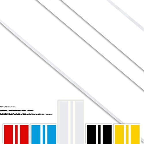 Pegatina LINEAS Racing Vinilo Adhesivo Sticker TUNNING para Coche Blanco