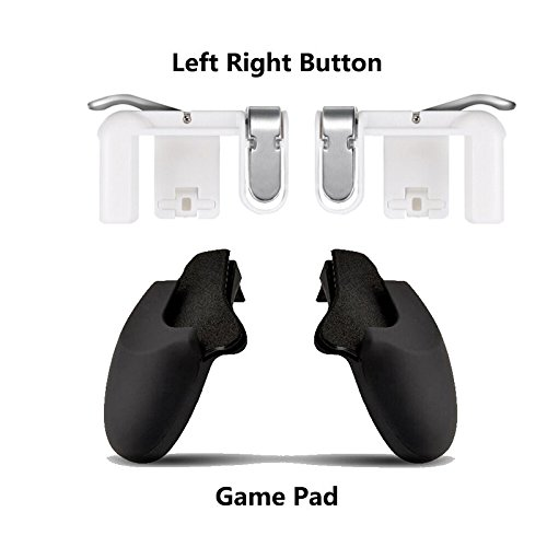 Ocamo Mobile Game Fire Button Ziel Taste Gaming L1R1 Shooter Controller für pubg L1R1 Trigger + Gamepad Holder Durchsichtig