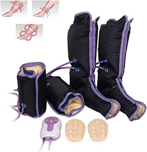 HGBKJUO Luftdruckmassage Druckwellen Beine Massagegerät, Elektrisch lymphdrainage Gerät Wadenmassagegerät zur Linderung von Krampfadern Wadenschmerzen mit 9 Modi,Uk Plug