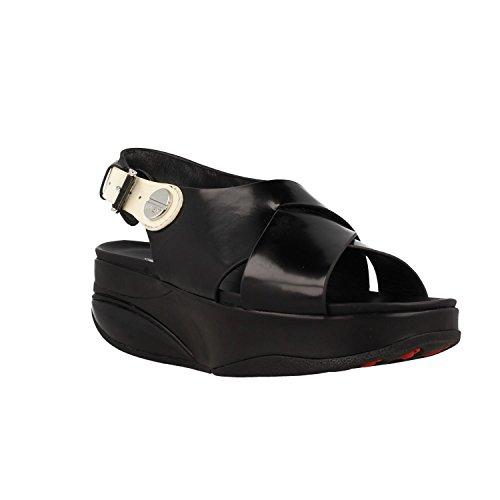 MBT - Sandalias de vestir de charol para mujer Negro negro, color Negro, talla 37 EU