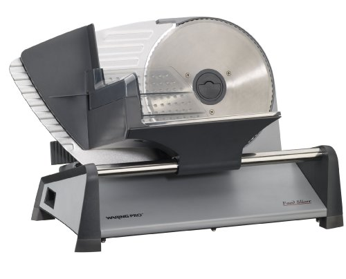 Waring Pro FS155AMZ Professional Food Slicer, Stainless Steel