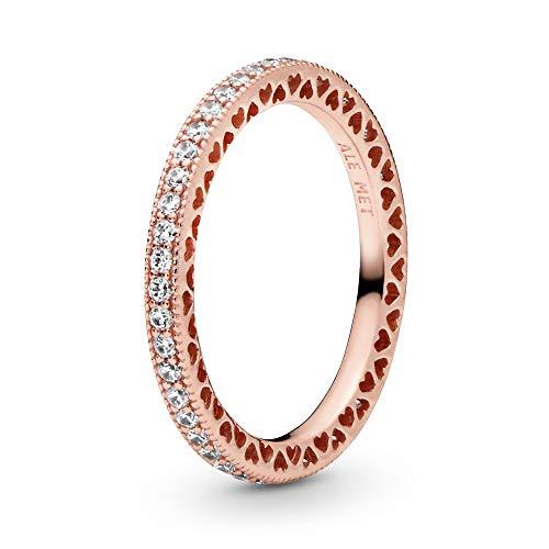 Pandora Damen-Partnerschaftsringe Silber_vergoldet mit '- Ringgröße 58 (18.5) 180963CZ-58