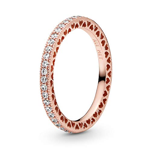 PANDORA Hearts of PANDORA Ring, Rose Gold