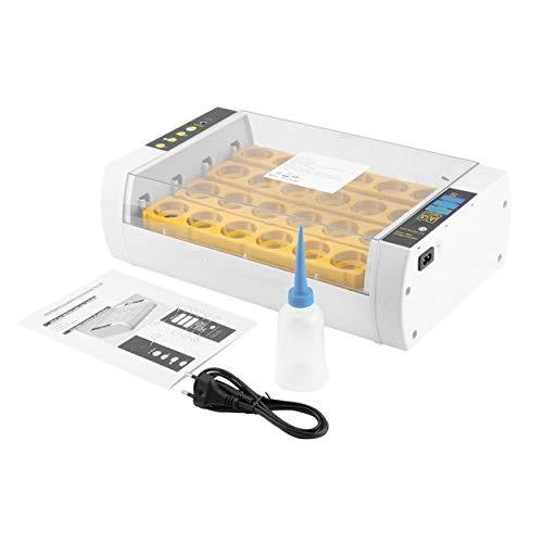 Lorenlli Práctica 24 Huevos Mini Incubadora de Gran Capacidad Para Pollo Aves de Codorniz Huevos de Pavo Uso en el Hogar Torneado Automático de Huevos