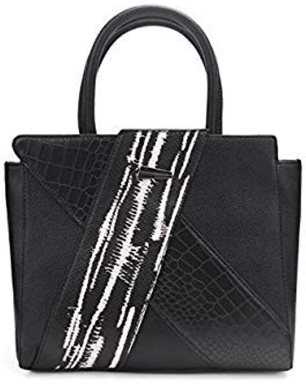 Bloomerang Daenerys Twill Designer Women Handbag Totes Party Purse Ladies Leather Messenger Crossbody Shoulder Bags Female Black Classic color black1