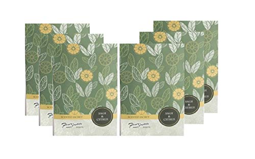FloralSimplicity 6 Pack of Sage and Citrus Scented Sachets